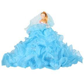 Dekorativní panenka Virginie modrá