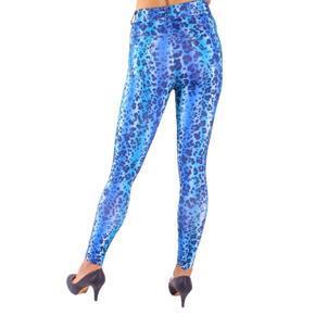 Nohavicové legíny Leopard modré