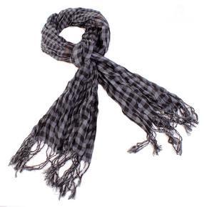 Černý šátek Lott s třásněmi D7
