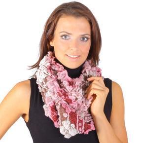 Růžový zimní šátek Melissa