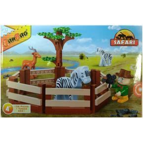 Stavebnice ohrada zvířátky Safari