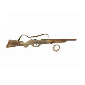 Dětská dřevěná puška na gumičky Barny