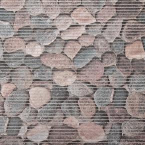 Gumová kúpeľňové rohože 65cm Kameny šede