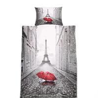 3D jednolôžkové obliečky paríž Ulica