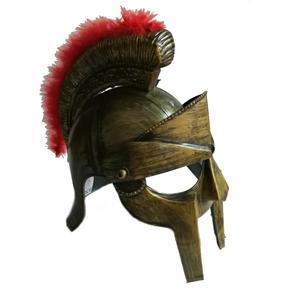 Dětská plastová rytířská helma Hector zlatá