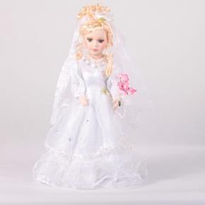DOLL porcelánová panenka nevěsta Jari 40 cm