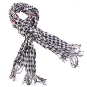 Bílý kostkovaný šátekt Lott