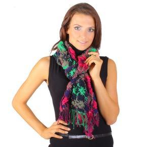 Módní zimní šátek Valery růžový