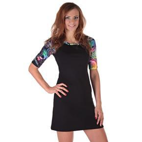 Krátke čierne šaty Aimee