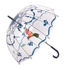 Průhledný deštník Luky tmavě modrý