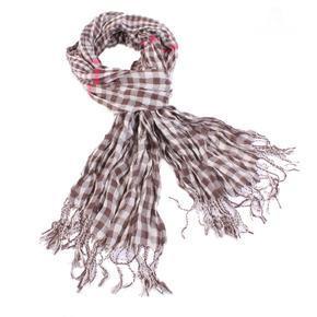 Kostkovaný šátek Lott hnědý