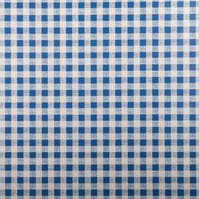 Omyvatelný ubrus motiv Kostička malá metráž modrý