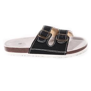 Páskové korkové šľapky Simba čierne