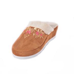 Dámske papuče na kline Helen hnedé