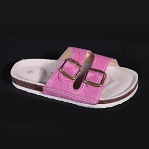 Páskové korkové papuče Tana svetlo ružové