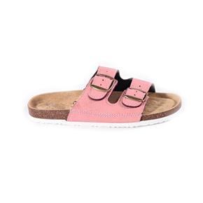 Páskové korkové papuče Nela svetlo ružové