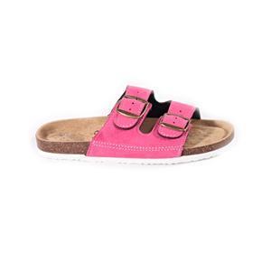 Páskové korkové papuče Alice tmavo ružovej
