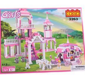 Stavebnice Marina zámek a kočár  pro princeznu