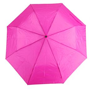 Jednofarebný skladací dáždnik Lejla ružový