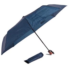Jednofarebný skladací dáždnik Lejla tmavomodrý