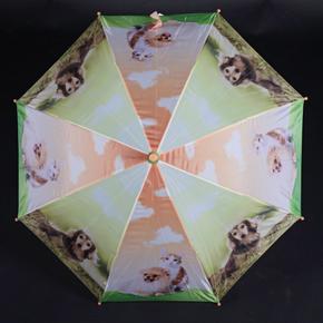 Holový detský dáždnik Kara oranžový