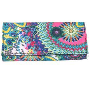 Luxusná dámska peňaženka Sofie tyrkysovobílá