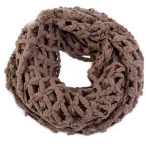 Hnědý zimní šátek Karol