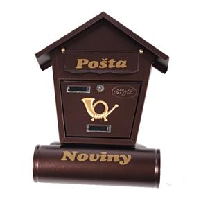 Poštovní schránka Ponty hnědá
