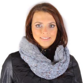 Zimní nákrčník Hayley šedý