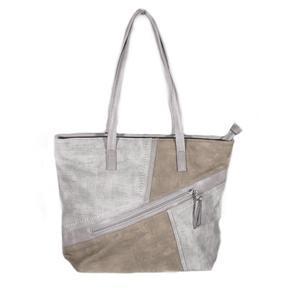 Luxusní šedá kabelka Malvina