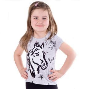 Měnící dívčí šedé tričko Rachel