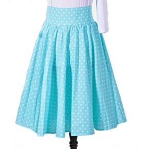 Dámska retro sukňa Blue modrý bodka