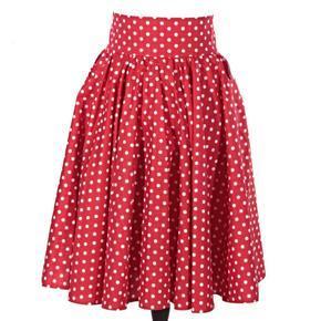 Retro dámska sukňa Red červený puntík