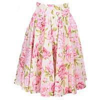 Kvetovaná retro dámska sukňa Pivonky
