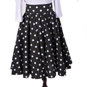 Retro dámska sukňa Black čierny puntík