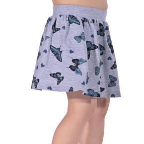 Dětská sukně s motýlama Stela šedá