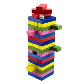 Hra Jenga barevné kostičky 54ks Pegy