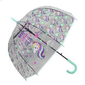 Dětský vystřelovací deštník Unicorn zelený