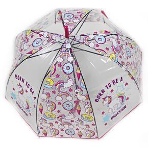 Dětský vystřelovací deštník Unicorn tmavě růžový