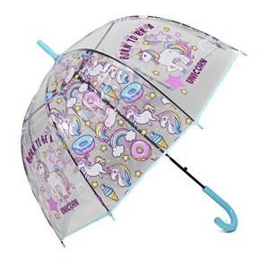 Dětský vystřelovací deštník Unicorn modrý