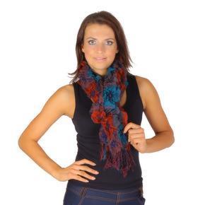 Oranžový zimní šátek Valery