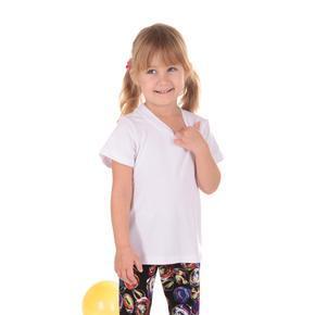 Detské tričko krátky rukáv Laura biele od 98-116