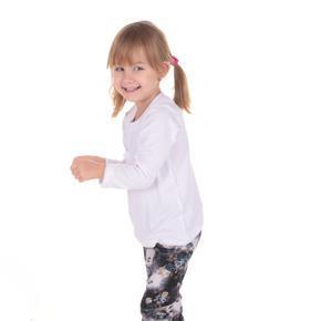 Detské tričko dlhý rukáv Marlen biele od 122-146
