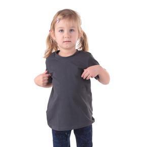 Šedé detské tričko krátky rukáv Laura od 98-116
