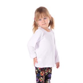 Detské tričko dlhý rukáv Marlen biele od 98-116