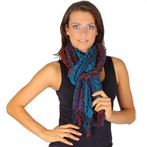 Oranžový zimní šátek Karolin