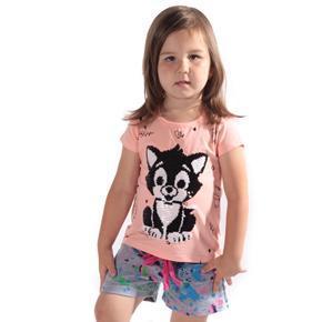 Přeměňovací dětské tričko Darling oranžové