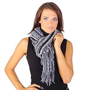 Luxusní černý šátek Karolin