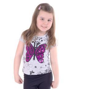 Měnící dívčí šedé tričko Renata