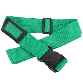 Textilní bezpečnostní popruh na kufr Hery zelený